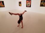 Floor handstand